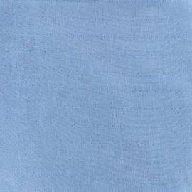 Tissu double gaze de coton Soft Touch - denim x 10cm