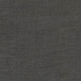 Tissu double gaze de coton Chambray - black x 10 cm