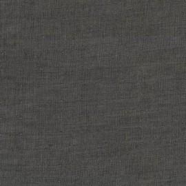 Tissu double gaze de coton Chambray - black x 10 cm