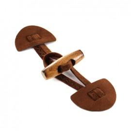 Adjustable Toggle Duffle Coat Aria - brown