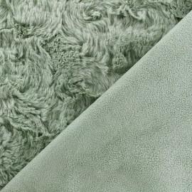 Fourrure envers suédine - vert sauge x 10cm