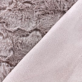 Fur fabric double sided Suede - old pink x 10cm