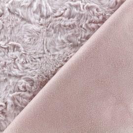 Fourrure envers suédine - rose x 10cm