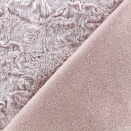 Fur fabric double sided Suede - pink x 10cm
