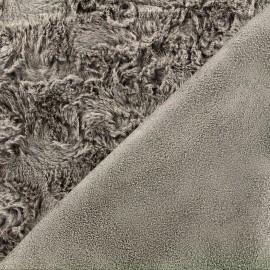 Fourrure envers suédine - taupe x 10cm