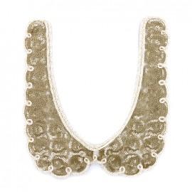 Bijoux de col pailleté Romantic - doré