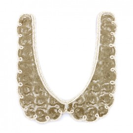 Sequined collar jewels Romantic - gold