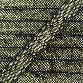 Ruban Galon lin lurex - noir/doré x 1m
