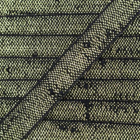 Trimming ribbon Glitter lurex - black/gold x 1m
