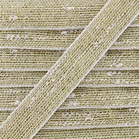 Trimming ribbon Glitter lurex - linen/gold x 1m