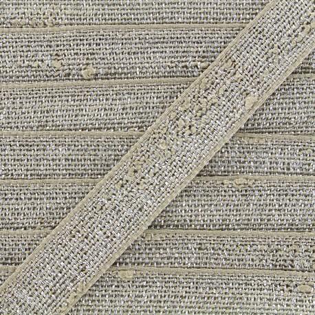 Trimming ribbon Glitter lurex - linen/silvery x 1m