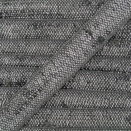 Ruban Galon Glitter lurex - gris/argenté x 1m