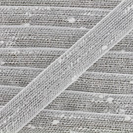 Ruban Galon lin lurex - blanc/argenté x 1m