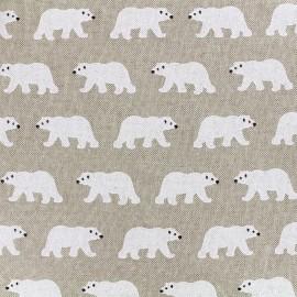 toile coton - Ours blanc x 16cm