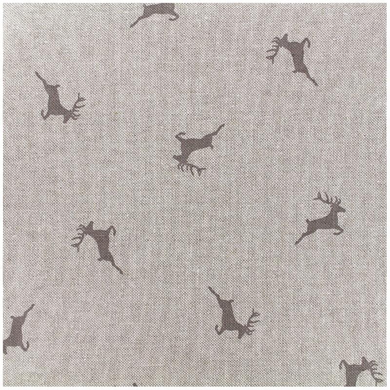 tissus pas cher tissu toile coton rennes gris x 31cm. Black Bedroom Furniture Sets. Home Design Ideas