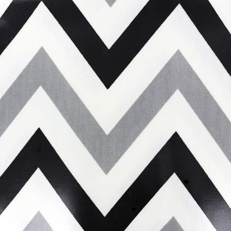 Tissu coton enduit vernis Jazz - jet x 10cm