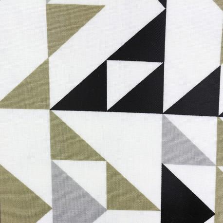 Tissu coton enduit vernis Point to point - graphite x 10cm