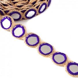 Ruban galon India Miroir - violet x 25cm