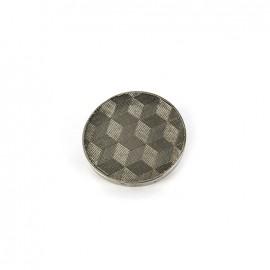 Bouton métal Cubes - argent