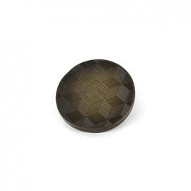 Metal button Cubes - bronze