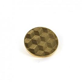 Bouton métal Cubes - doré