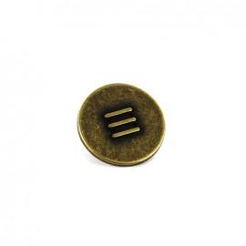 Bouton métal Capitaine - vieil or