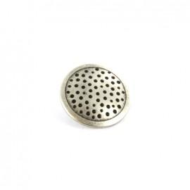 Bouton métal Spot - vieil argent