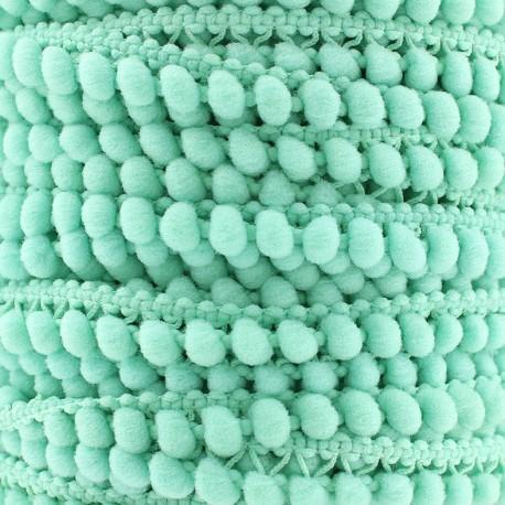 Little pompom braid trimming Color - aquamarine x 1m