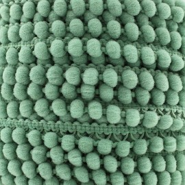 Galon little pompon Color - vert sauge x 1m