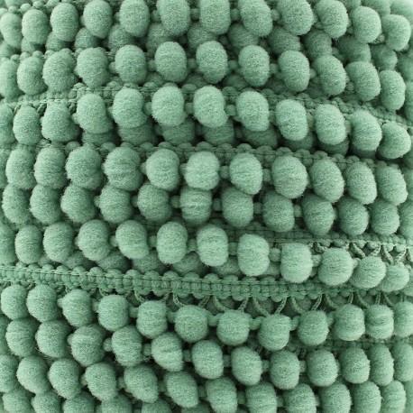 Little pompom braid trimming Color - sauge green x 1m
