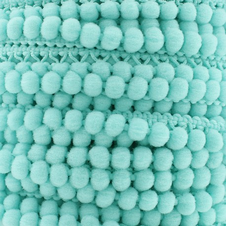 Little pompom braid trimming Color - aqua x 1m