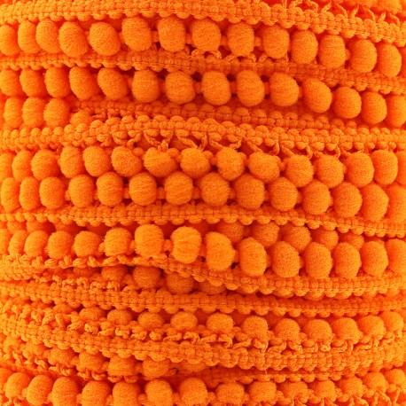 Little pompom braid trimming Color - orange x 1m
