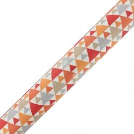 Tissu adhésif Tigaya - orange (37cm x 2m)