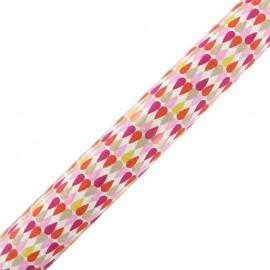Tissu adhésif Plima - rose (37cm x 2m)