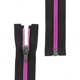 Open-end zipper metallic thread - fuchsia