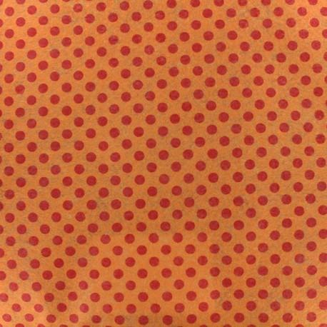 Camelot fabrics precut felt dots orange ma petite mercerie for Polka dot felt fabric