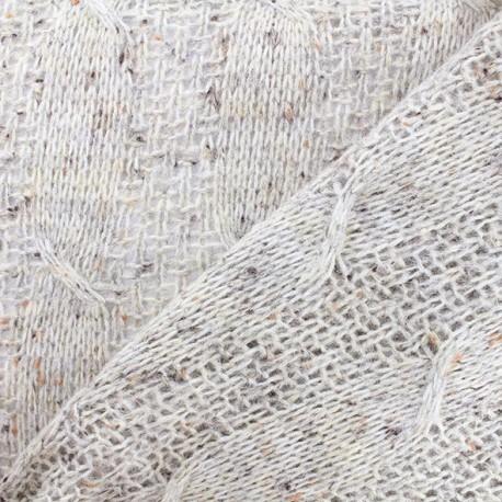 Glittery wool fabric - beige x 10cm