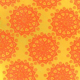 Camelot Fabrics precut felt Mandala - lemon