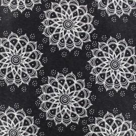 Camelot Fabrics precut felt Mandala - black