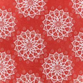 Feuille de feutrine Camelot Fabrics Mandala - red
