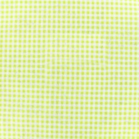 Feuille de feutrine Camelot Fabrics Gingham - chartreuse