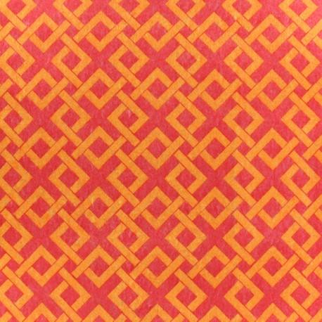 Camelot Fabrics precut felt Trellis - chartreuse