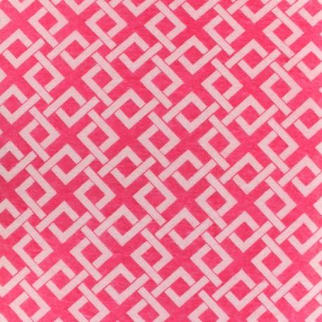 Feuille de feutrine Camelot Fabrics Trellis - raspberry