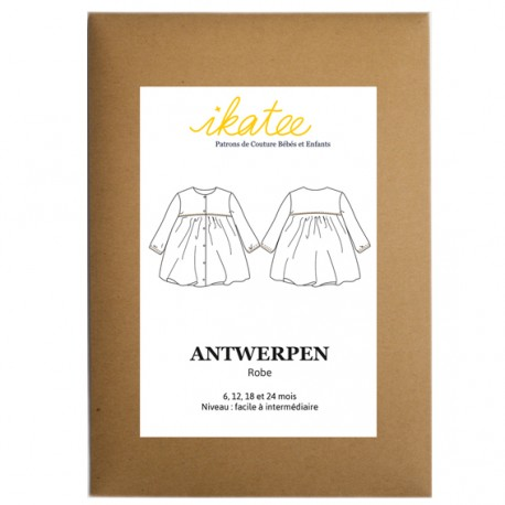 Patron Ikatee Antwerpen - robe : de 6 à 24 mois