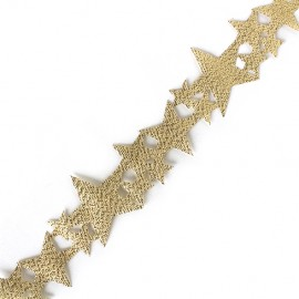Lamé ribbon Constellation - gold x 1m