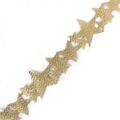Lamé ribbon Constellation - gold x 1m