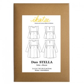 Patron Ikatee duo STELLA - Robe + blouse : de 3 à 12 ans