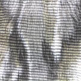 Fourrure aspect faisan poils longs - beige x 10cm