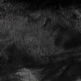 Fourrure poils mi-longs Vizon - noir x 10cm