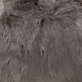 Fourrure poils mi-longs Vizon - taupe x 10cm